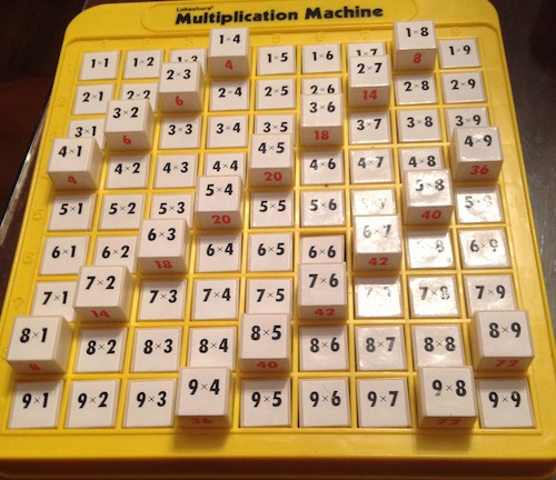 multiplication practice math machine